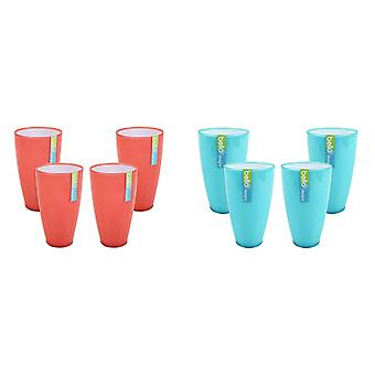 Drinks Tumbler Set of 4 Drinks Glasses Cups Picnic BBQ Outdoor Dining Barware