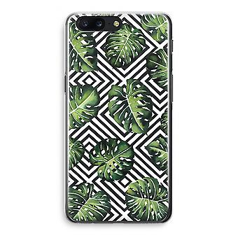 OnePlus 5 Transparant Case - Geometric jungle