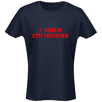 I Hate Christmas Xmas Womens T-Shirt 8 Colours (8-20) by swagwear