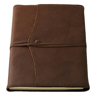 Coles Pen Company Amalfi Large Lined Refillable Journal - Chocolate Brown