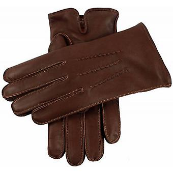 Dents Clyne Cashmere Lined Hairsheep Leather Gloves - English Tan/Tangerine
