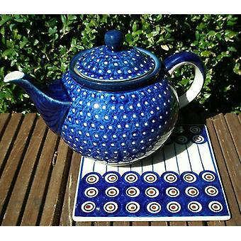 Porta-copos, 15 x 15 cm, 13 tradicional polonês cerâmica - BSN 22583
