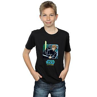 Star Wars Boys Vader And Luke Anime T-Shirt
