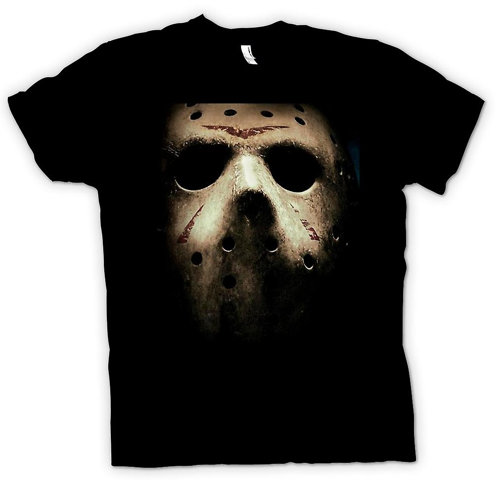 Mens T-shirt - fredag ​​Th Hocky Mask Skräck
