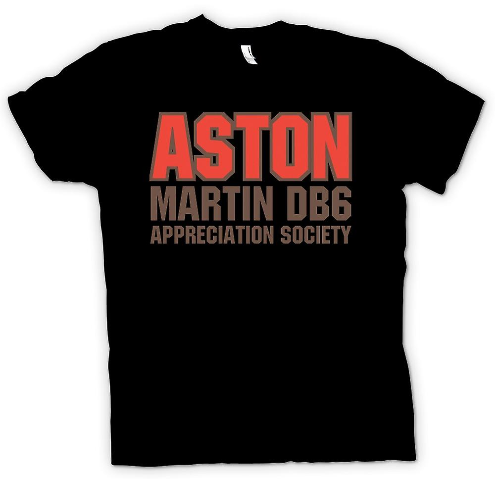 Heren T-shirt-Aston Martin DB6 Appreciation Society