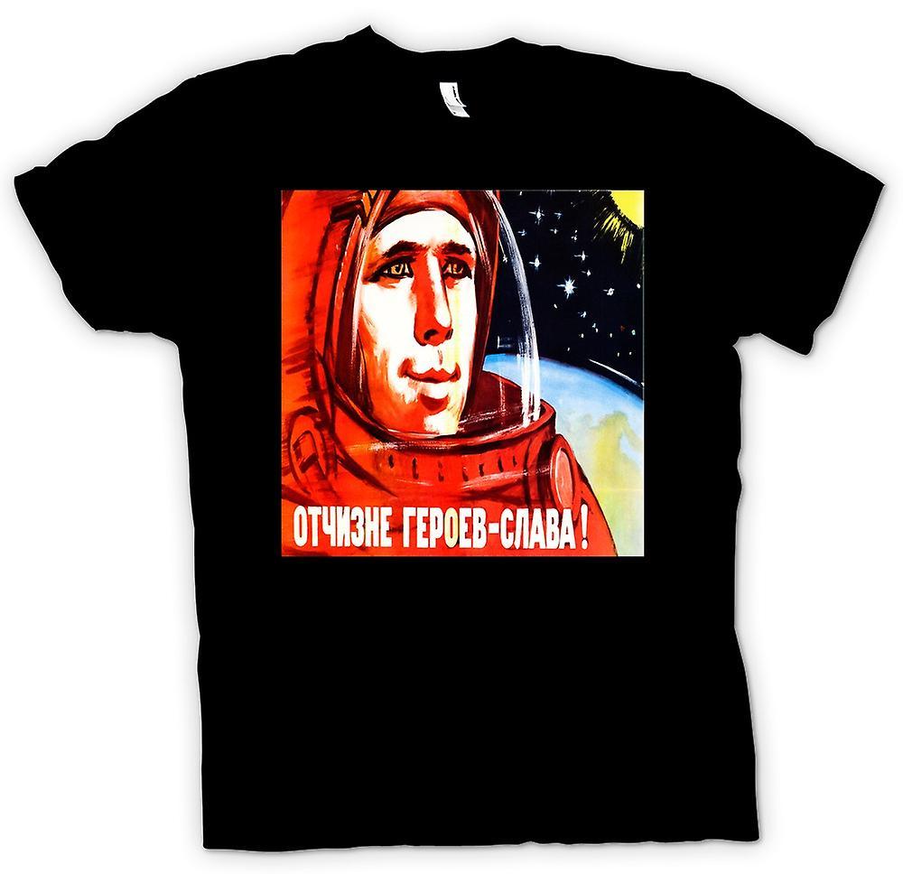 Mens t-skjorte - Yuri Gagarin - kosmonaut