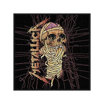 Metallica Patch One Band Logo Official New Black Cotton Sew On (10cm x 10cm)