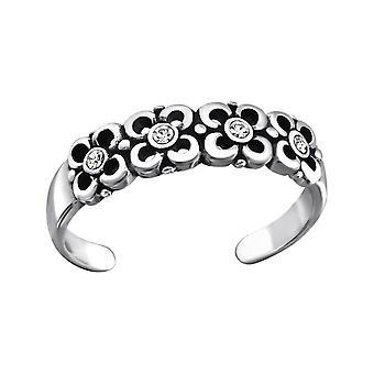 Flowers - 925 Sterling Silver Toe Rings - W27174X
