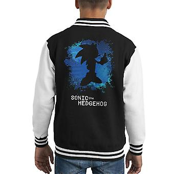 Sonic The Hedgehog Silhouette Kids Varsity Jacket