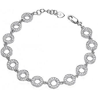 Cavendish French Cubic Zirconia Polo Bracelet - Silver