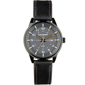 Bruno Banani ver ob reloj de pulsera analógico BR30010 de cuero