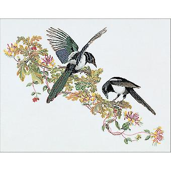 Magpie On Aida Counted Cross Stitch Kit-25.75