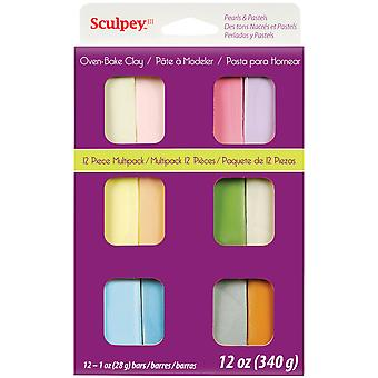 Sculpey III Polymer Clay Multipack 1oz 12/Pkg-Pastelle