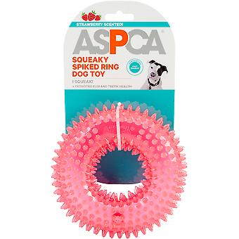 Aspca Squeaky Spiked Ring Dog Toy-Pink
