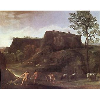 Landscape with Hercules and Achelous, Domenichino, 60x50cm