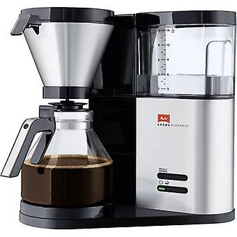 Melitta Aroma Elegance 1012-01 Coffee maker Stainless steel (brushed), Black Cup volume=10
