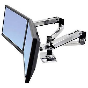 Ergotron 45-245-026 Lx 360° Rotating Dual Monitor Bracket, 15 to 24 18kg Black/silver