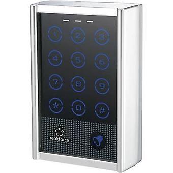 Renkforce 751402 Code lock Surface-mount IP65 + touchscreen, + backlit keypad