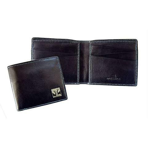 Tyler and Tyler Leather Rutting Stags Bill Fold Wallet - Black