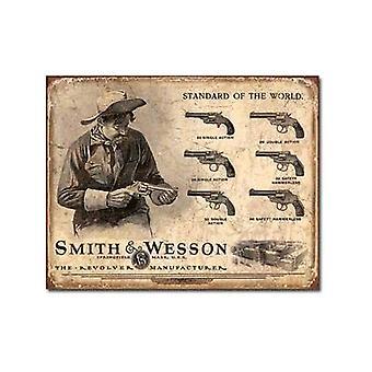 Smith & Wesson standarden i verden Metal tegn