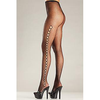 Fishnet Tights With Circular Openings