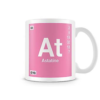 Scientific Printed Mug Featuring Element Symbol 085 As - Astatine