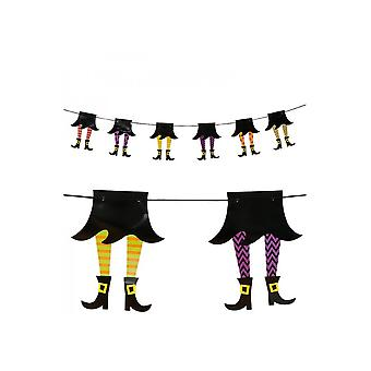 Halloween and horror  Garland Halloween with witches 210cm