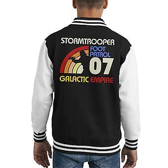 Opprinnelige Stormtrooper Retro 70s barneklubb Varsity jakke