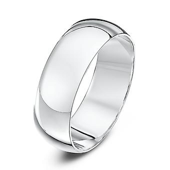 Star Wedding Rings 18ct White Gold Extra Heavy D 7mm Wedding Ring