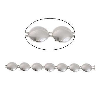 1,8 m x srebrny odcień biały akryl 10mm, ZAMKNIĘTA ozdobny Link łańcucha CH2425