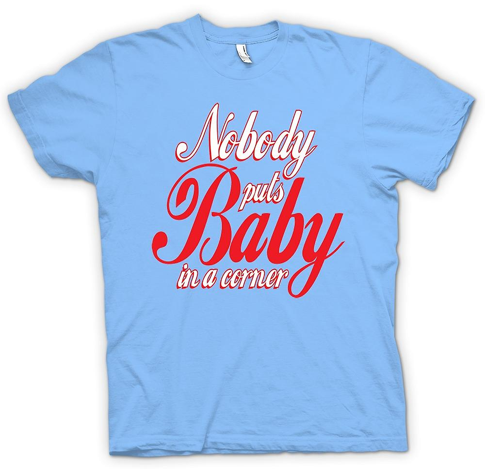 Mens T-shirt - Nobody Puts Baby In A Corner - Quote