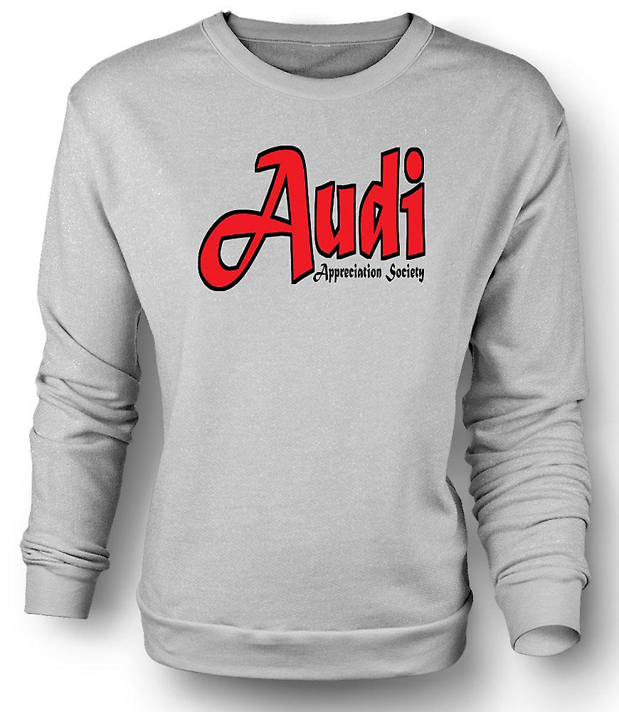 Mens Sweatshirt Audi Appreciation Society