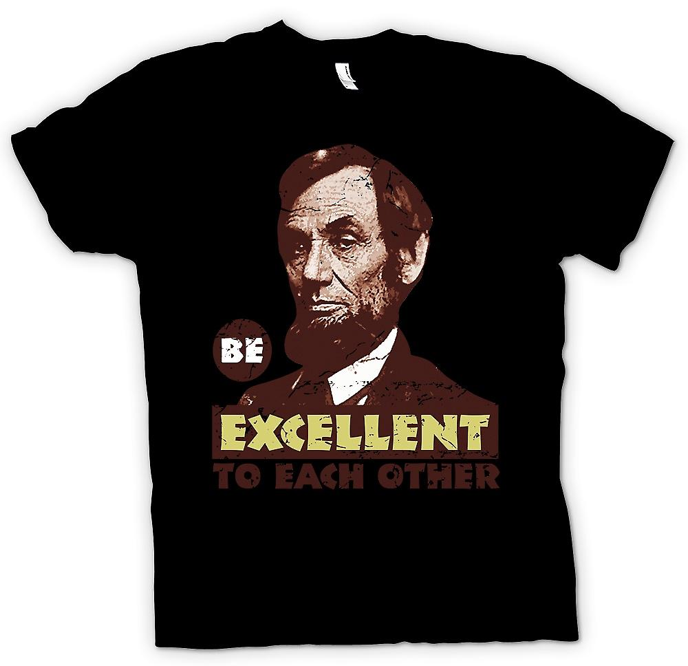 Womens T-shirt - Be Excellent To Each Other - Bill And Ted - Funny