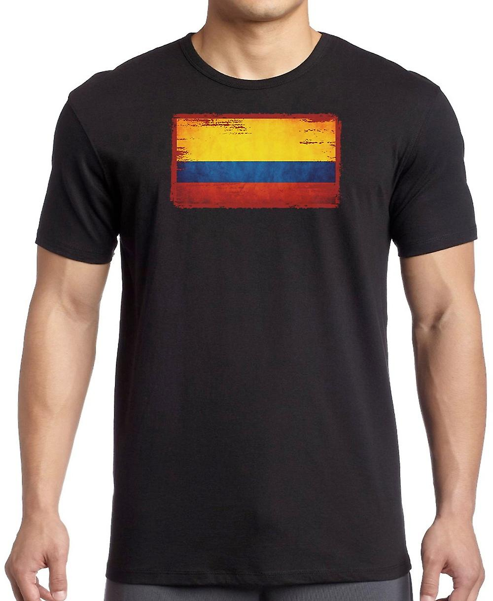 Columbian Columbia Grunge Flag Kids T Shirt