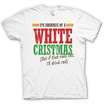 Im Dreaming Of A White Christmas - Funny Christmas - 100% Cotton Short Sleeve Ladies T Shirt