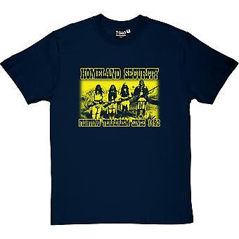 Seguridad de la patria: Lucha contra el terrorismo desde 1492 camiseta hombres