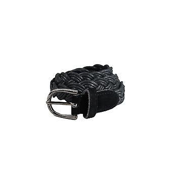 Lovemystyle Skinny Woven Black Belt With Silver Buckle