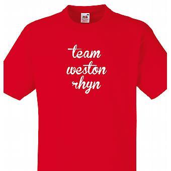 Team Weston rhyn Red T shirt