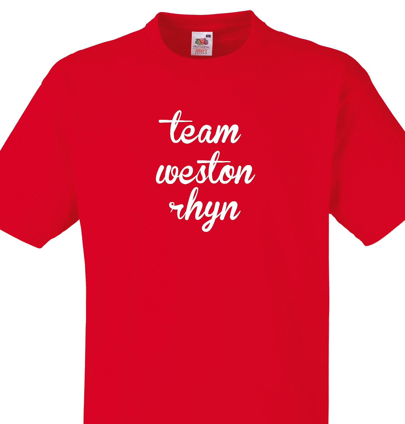 Team Weston rhyn Red T shirt