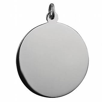 Silber 30mm Runde plain Dealer