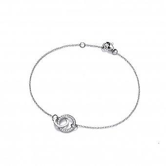 Cavendish franska SIlver och CZ eviga kärlek armband