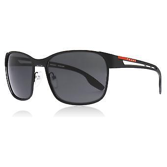 Prada Sport PS52TS DG05S0 Black Rubber PS52TS Square Sunglasses Lens Category 3 Size 59mm