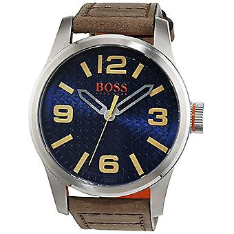 Hugo Boss Orange 1513352 quartz watch for men, classic analog display and leather strap