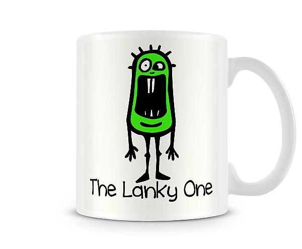 Decorative Writing The Lanky One Printed Text Mug