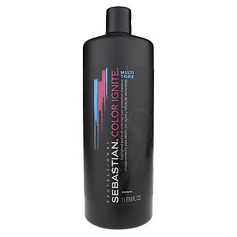 Sebastian Color Ignite Multi Tone Shampoo 33,8 oz/1 Liter nieuw
