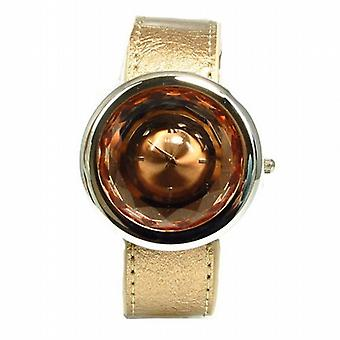 Henley Glamour Bronze Multi facettes verre taillé Ladies Fashion Watch H06021.2
