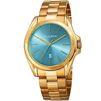 Akribos XXIV AK948GTQ Silver Sunburst Dial Date Quartz Bracelet Watch