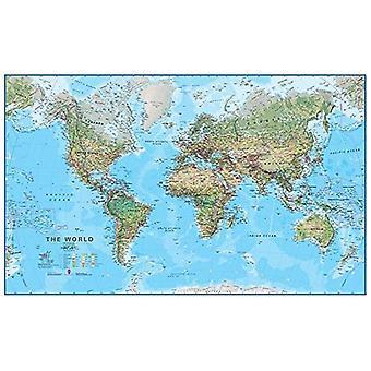 Fysieke kaart van de wereld