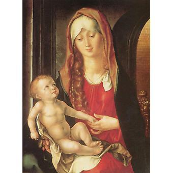 The Virgin before an archway,Albrecht Durer,50x37cm
