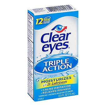 Clear eyes triple action relief eye drops, 0.5 oz